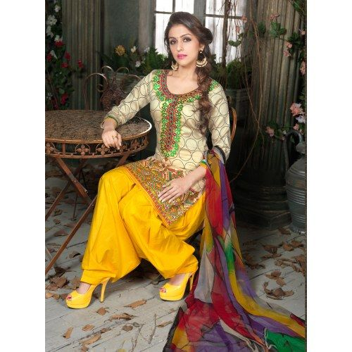 Awesome Lovely Party Wear Fancy Embroidery Designer Salwar Suit