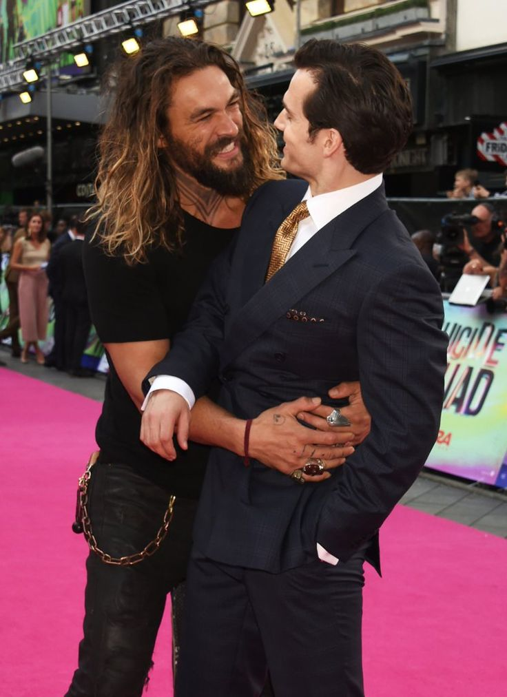 Jason Momoa at Suicide Squad London Premiere | POPSUGAR Celebrity