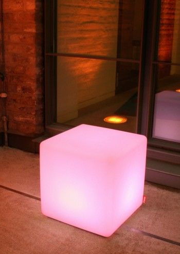 Multicoloured Outdoor LED Cube Table - Moree #lovelimelace @limelace