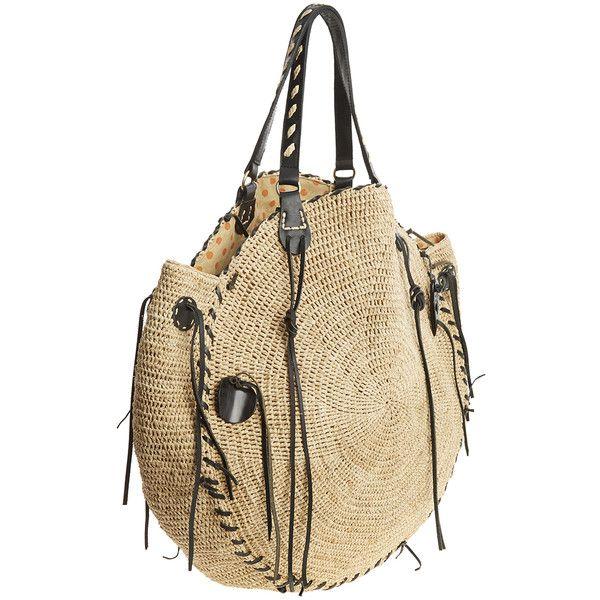SANS-ARCIDET Red Crow Raffia Bag