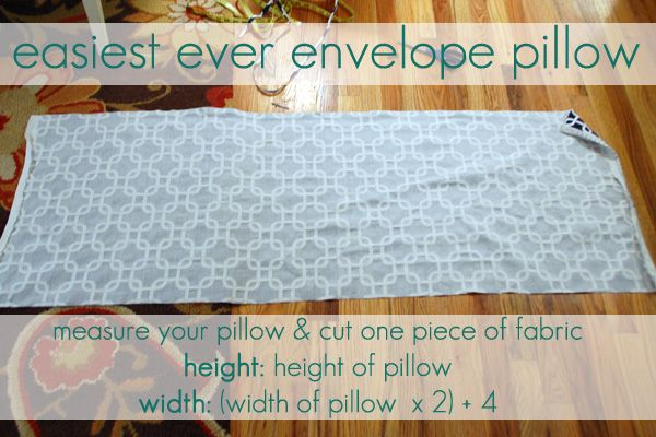 easiest envelope pillow ever. just one piece!