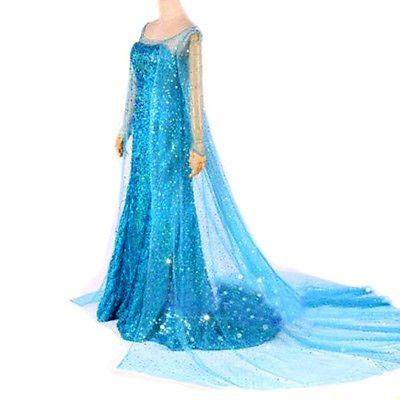 #Dress de #adult queen elsa frozen costume princess elsa de fashion #party mod a,  View more on the LINK: http://www.zeppy.io/product/gb/2/291764706489/