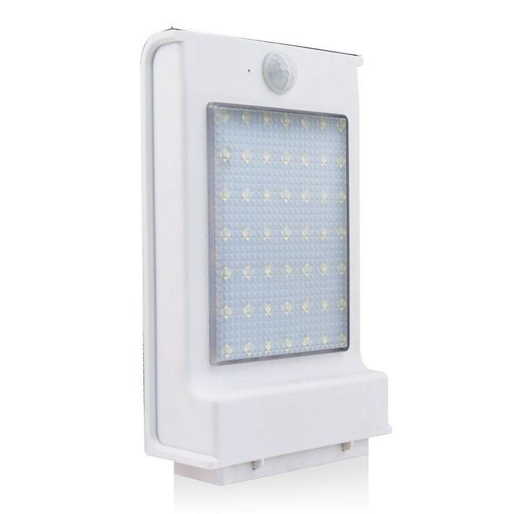 Lumiparty Newest 500LM 49LED Solar Power Street Light PIR Motion Sensor Light Garden Security Lamp Outdoor Waterproof Wall Light