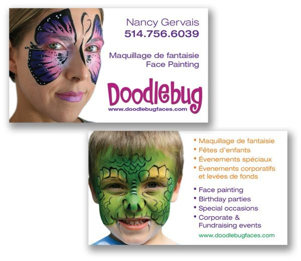 Face painting business cards best painting 2018 face painting business cards andreas dunca banners and business cards colourmoves