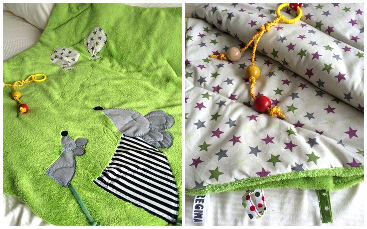 Myši v trávě...na dece:) hrací deka, podložka