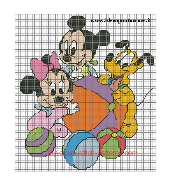 Baby Minnie, Mickey, and Pluto (click to view)