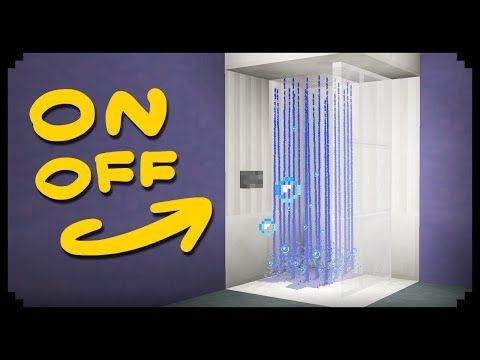 ✔ Minecraft: How to make a Working Shower - YouTube