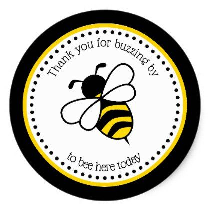 Bumble Bee Baby Shower Stickers