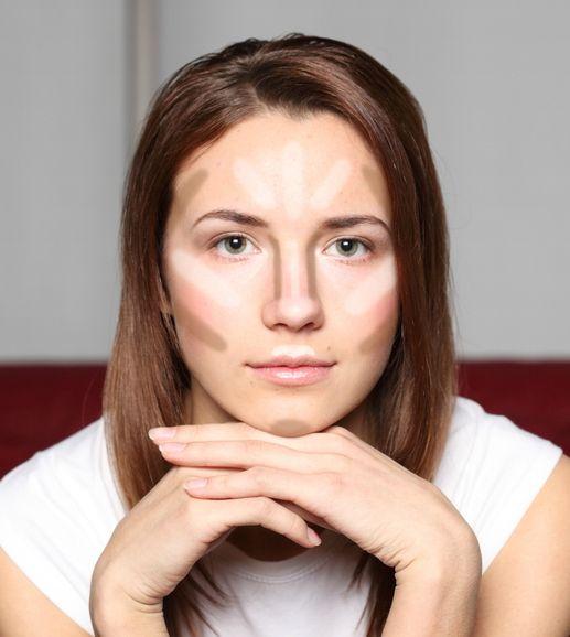 Exemple coutouring poudre visage #strobing #contouring #maquillage #beauté