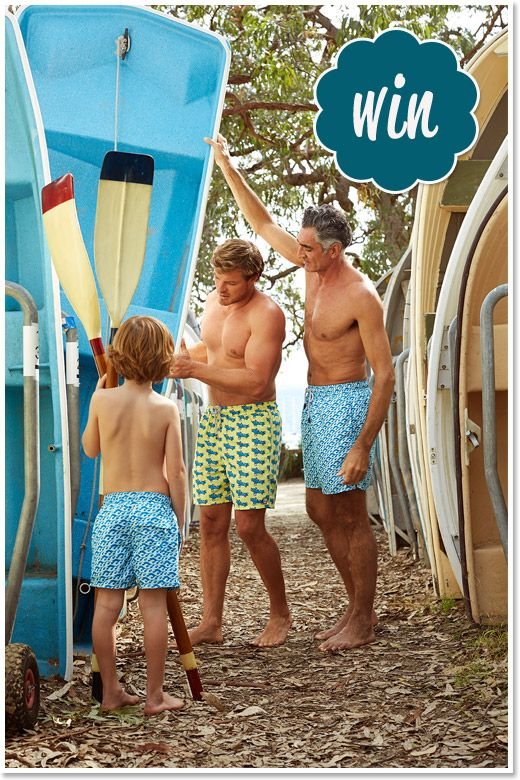 WIN a father and son set of Tom & Teddy Board Shorts