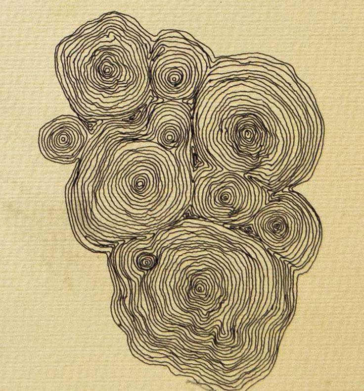 Camille de Saint Jean 'Furrow 1' Pen on vintage drawing paper #drawing