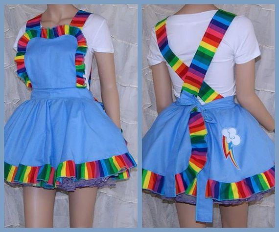 Mi Little Pony Rainbow Dash delantal delantal traje falda adulto todos los tamaños - MTCoffinz