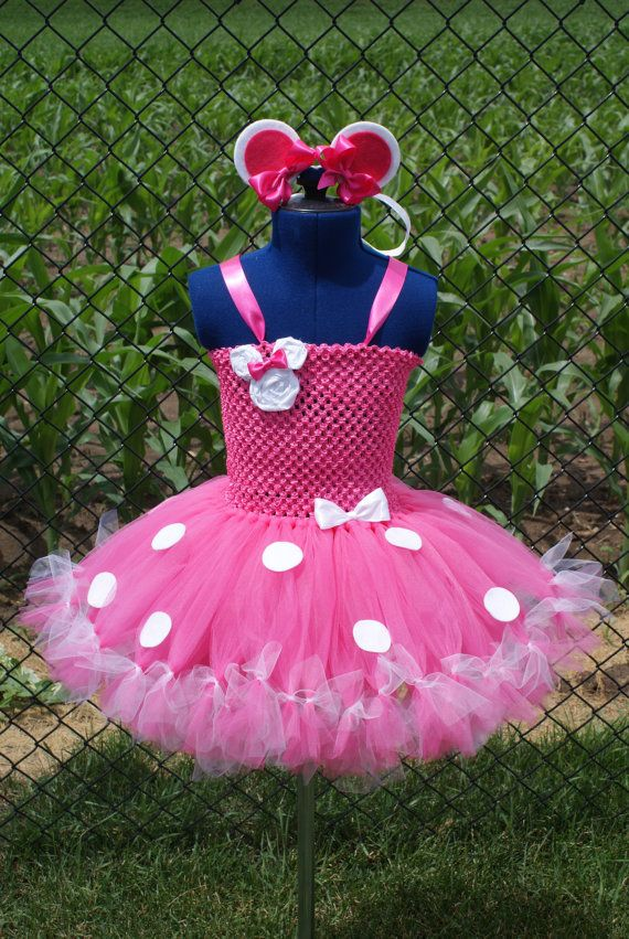 Minnie Mouse Petti Tutu Dress/Costume with by TheDreamingLadybug