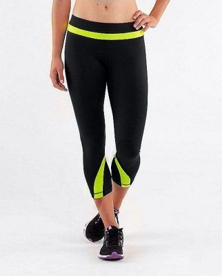 Lululemon Yoga Run Inspire Crop II Black / Yellow Green : Lululemon Outlet Online, Lululemon outlet store online,100% quality guarantee,yoga cloting on sale,Lululemon Outlet sale with 70% discount! $39.79