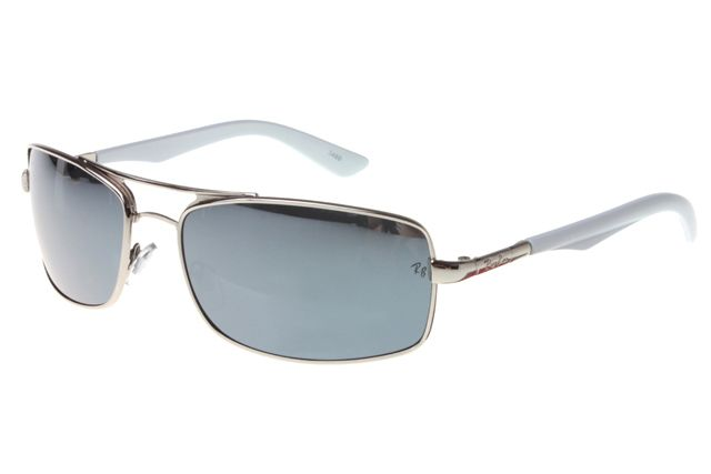 Ray Ban Active Lifestyle RB3460 Sunglasses Gunmetal/White Frame Gray Lens