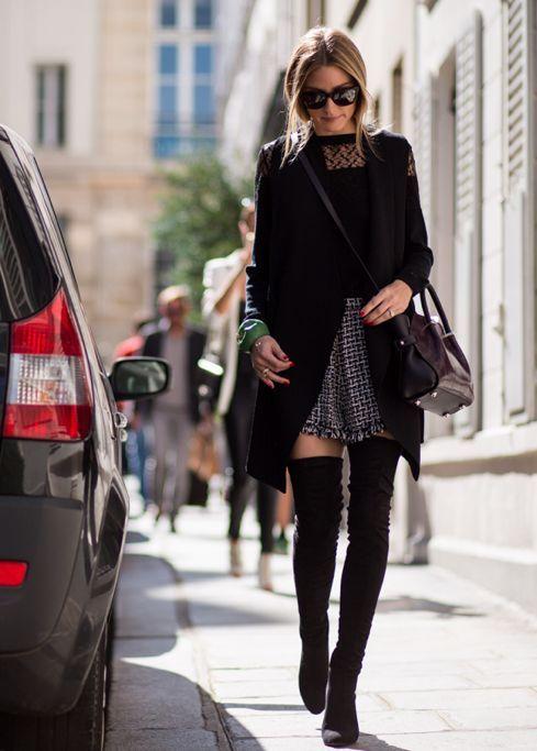 Cet hiver encore, les cuissardes s'imposent comme une tendance incontournable. En cuir, en daim, plates ou à talons, elles ajoutent beaucoup de féminité à la silhouette. Vous êtes tentées par ces bottes longues mais ne savez pas trop comment les porter? Voici 20 tenues pour vous inspirer et des conseils pour être craquante en cuissardes! Je vous conseille de porter des cuissardes : avec un pull XXL ou une robe ample mi-cuisse par-dessus une paire jeans slim avec un haut fluide avec une jupe…