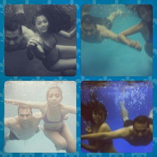 Underwater fun with hubby...