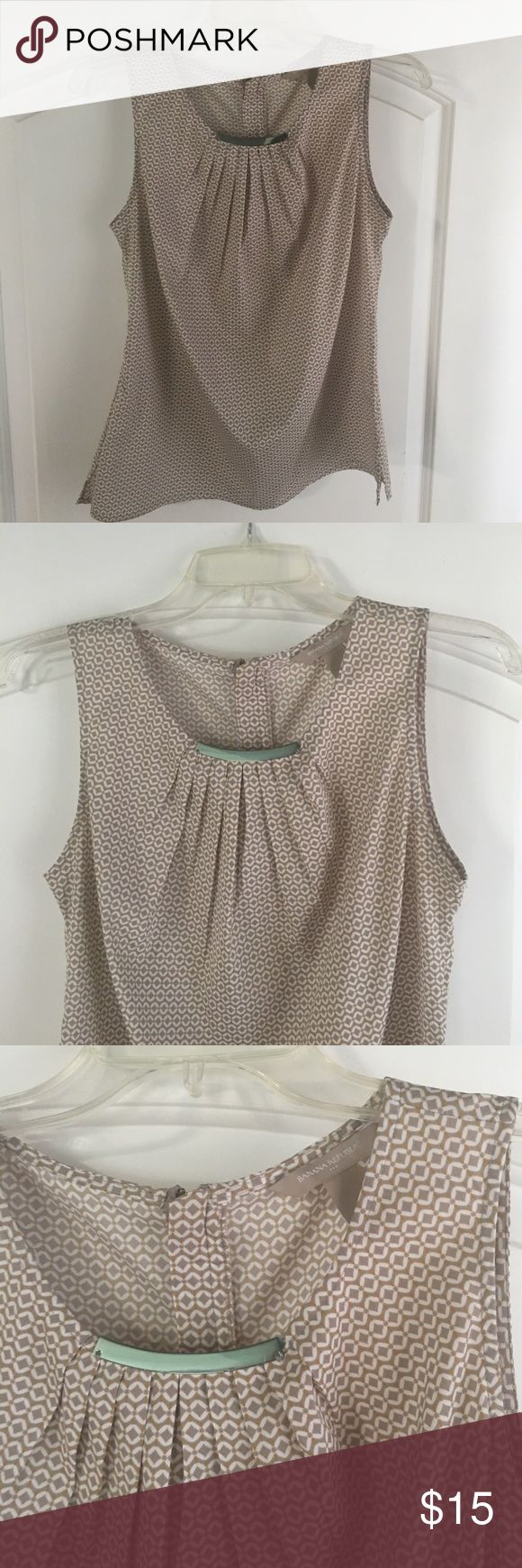 Banana Republic top Great condition Banana Republic short sleeve top. Pleated at top of Blouse.  Super cute when you pair it with a cardigan. Banana Republic Tops Tees - Short Sleeve