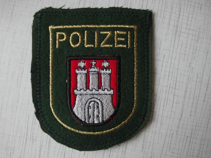 Patch Police Germany Deutschland Polizei Hamburg ärmelemblem Original Rarity