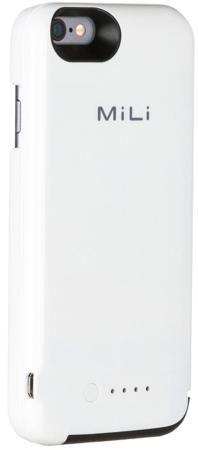 Mili Mili PowerSpring для iPhone 6/6S  — 2990 руб. —  Чехол-аккумулятор Mili PowerSpring для iPhone 6 оснащен встроенной батареей, которая увеличивает продолжительность автономной работы смартфона приблизительно в два раза. Светодиодный индикатор позволяет контролировать уровень заряда в любой момент.Максимальная безопасность. Чехол произведен из высокопрочного поликарбоната. Этот жесткий пластик защищает телефон и дополнительный аккумулятор от повреждений при падениях либо случайных ударах…