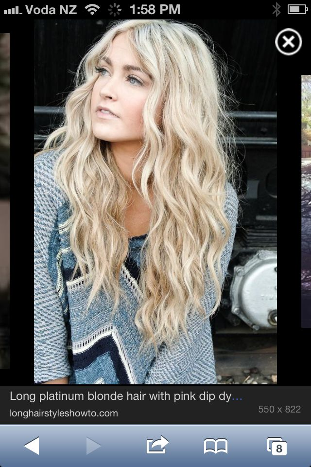 Love the waves & blonde hair. Gotta grow it back out about 6 inches first!!