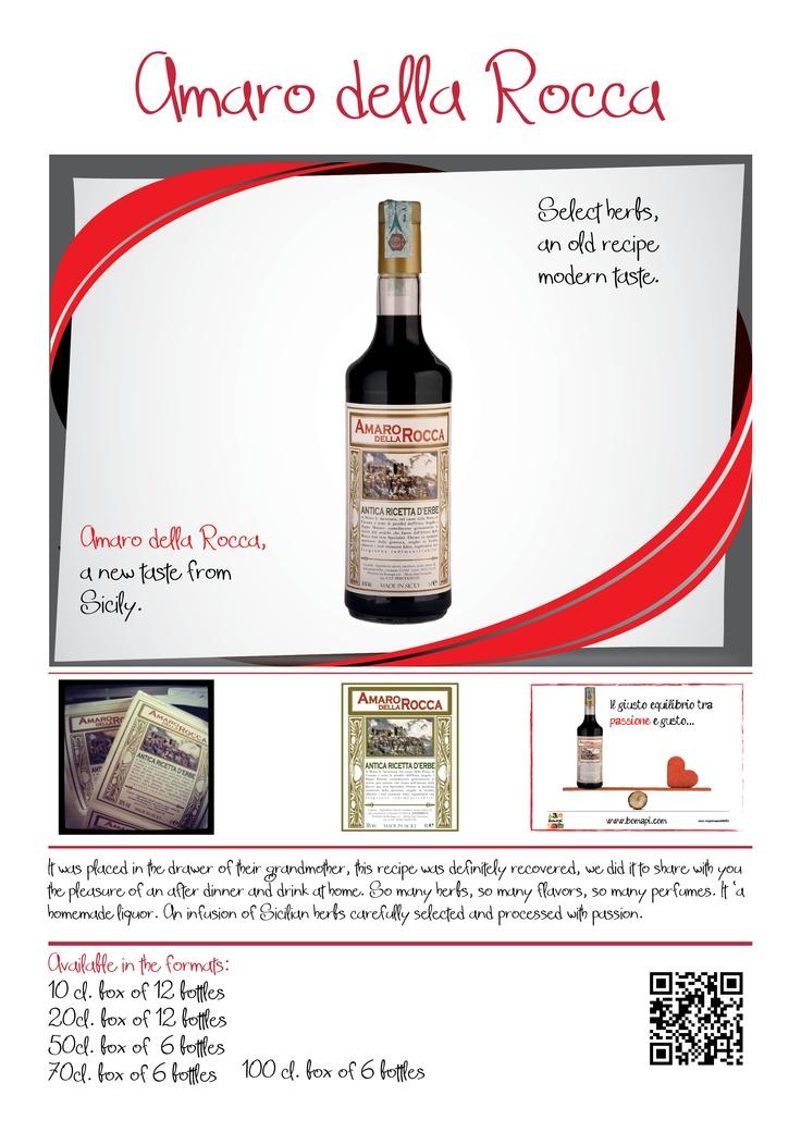Amaro della Rocca...amaro d'erbe siciliano