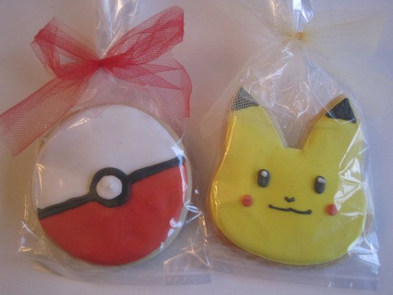 Pokemon Cookies Cookie favors by RPConfections on Etsy, $29.00
