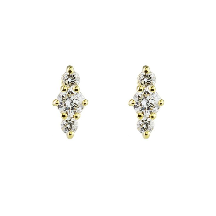 ILA: Hanley Diamond Stud Earrings