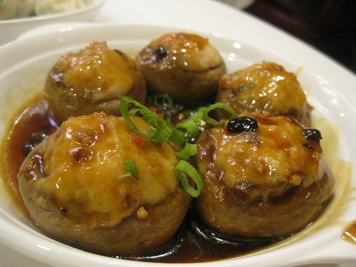 Food So Good Mall: Dim Sum Mushrooms Stuffed with Pork and Shrimp