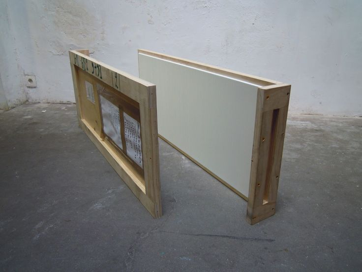 Noel Ivanoff, White Crate Painting, 2013,  oil on wooden construction. Two parts each 1175 x 450 x 110mm