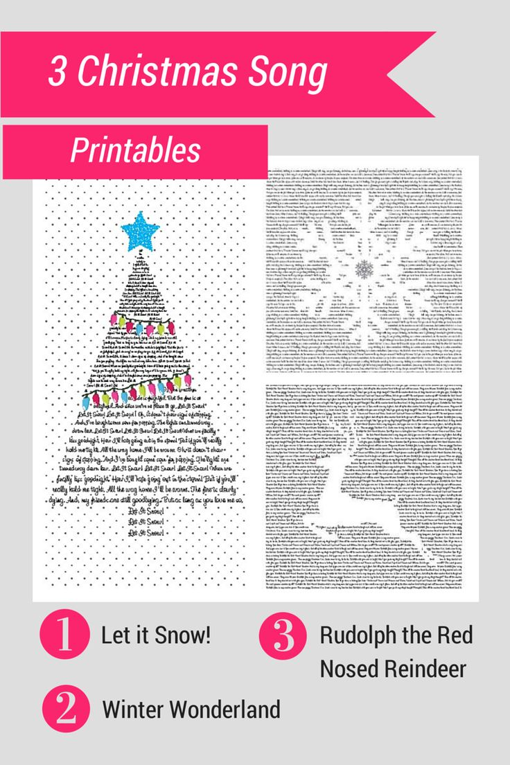 3 free Christmas Song Printables from theboldabode.com