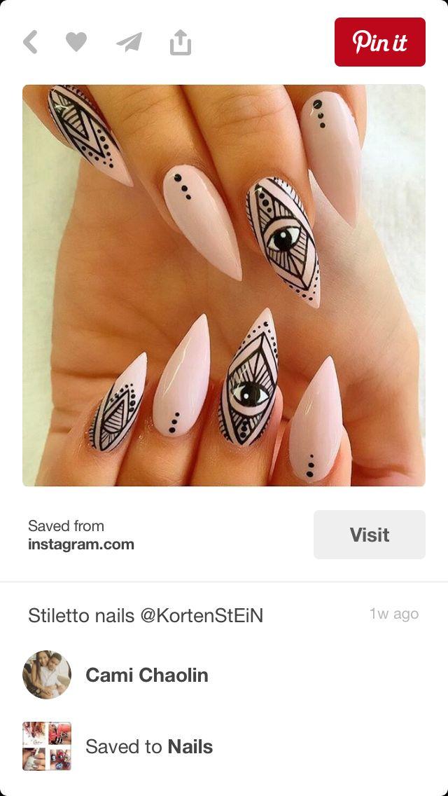 aztec nails ideas