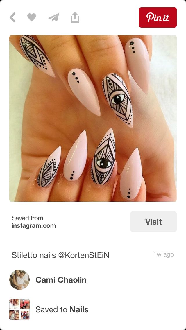 I like the dots in between nails with more intricate designs