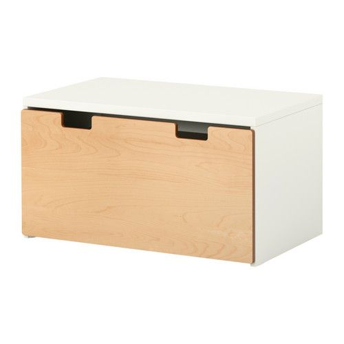 Ikea stuva storage bench white birch for the kids for Toy chest ikea