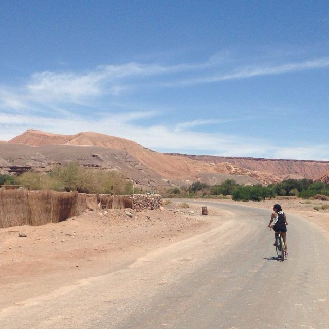 Biking in the desert #chili #atacama #desert #travel