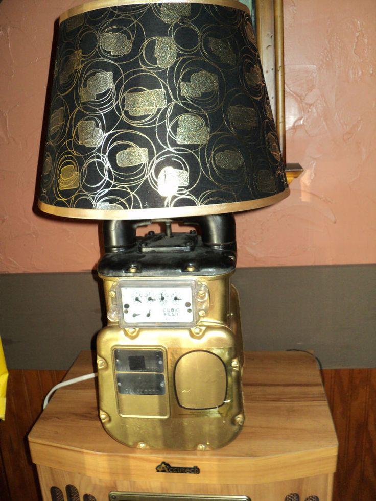 Man Cave Steampunk Lamp Repurposed Gas Meter Machine Age