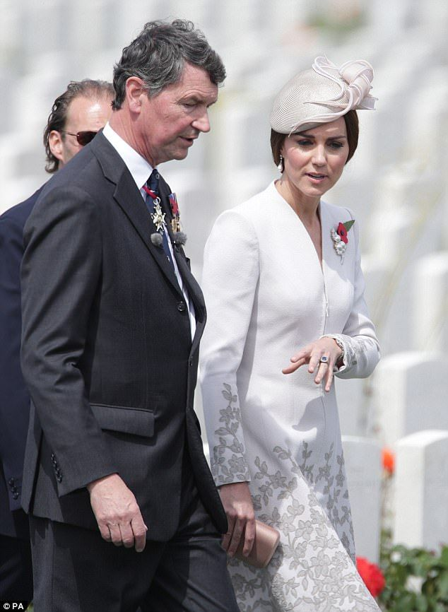 The Duchess with Vice Admiral Sir Timothy Laurence, the husband of Princess Anne