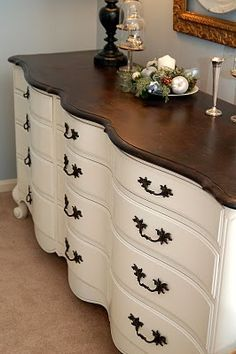 My $30 Craig's List Dresser Revealed – At Long Last! (Just bought a smaller version of this from a neighbor & will refurbish it for guest room)