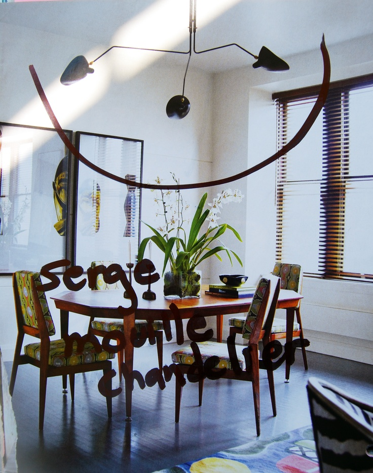 Dining Room Lighting By Serge Mouille