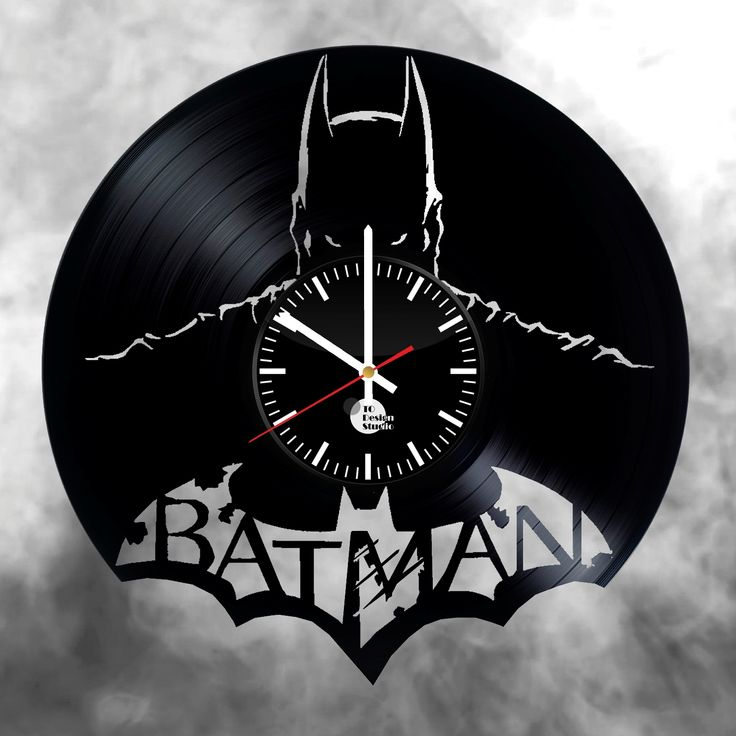 Batman vinyl record wall clock - VINYL CLOCKS