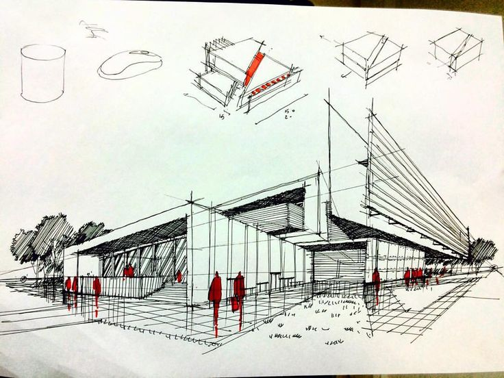 270 best images about modern architecture sketches on for Architecture sketch