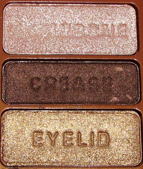Wet n Wild eyeshadow trio in The Gilded Age. this is the only acceptable mega shimmer eyeshadow colors! lol