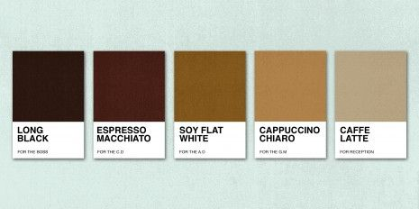 Project 2 - Colour Branding: I think the cappuccino chiaro brown will work best with my design out of these colours.
