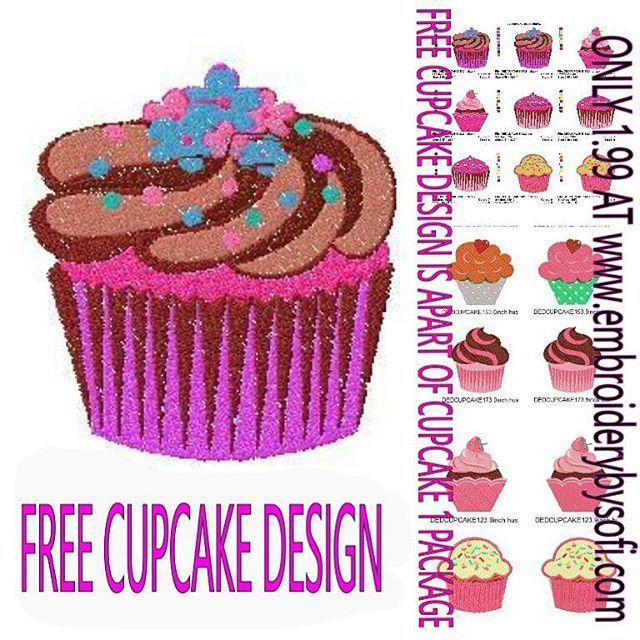 Free Cupcake Machine Embroidery Free Machine Embroidery Free