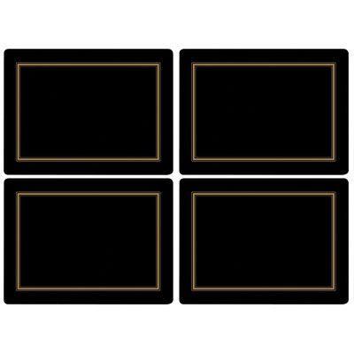 Pimpernel Classic Placemat Color: Black