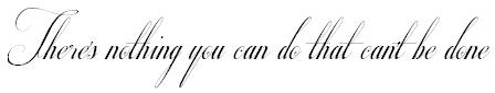 I really want to get a tattoo of lyrics by The Beatles one day. This quote is one of my favourites