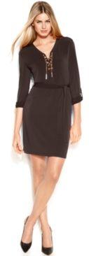 #Michael Kors             #Women                    #MICHAEL #Michael #Kors #Dress, #Long-Sleeve #Lace-Up #Belted #Shirtdress     MICHAEL Michael Kors Dress, Long-Sleeve Lace-Up Belted Shirtdress                                       http://www.snaproduct.com/product.aspx?PID=5449445