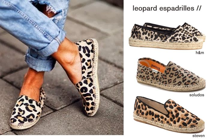 get on the trend: leopard espadrilles. save or splurge with these finds!
