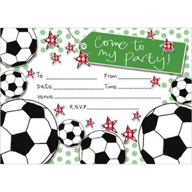 IV98 Football Invitations (pack of 10). Matching Thank You notecards available too. www.gailscards.com.au