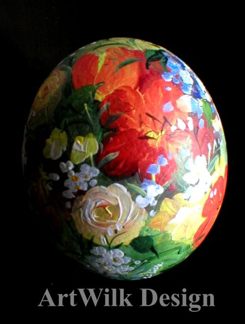 Hand painted ostrich egg by ArtWilk